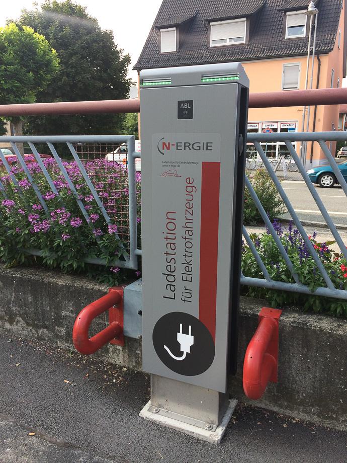 Elektro-Auto-Ladestation